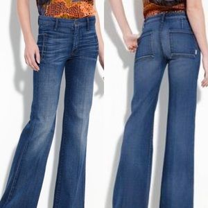 • MOTHER • Drama Wide Leg Jeans Cry of the Peacock